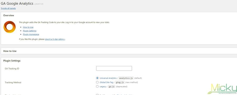 GA Google Analytics - Configurazione