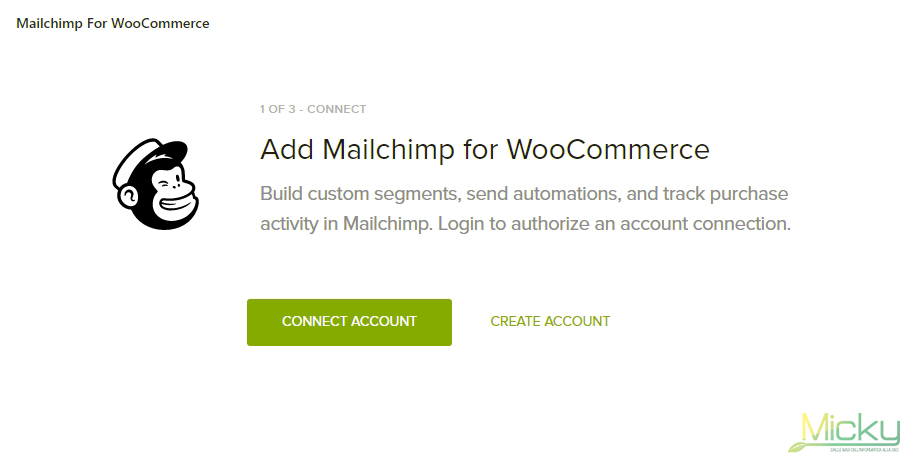 Mailchimp for WooCommerce - Account