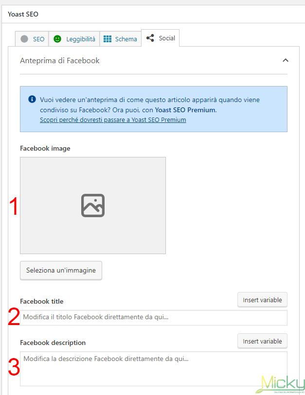 Yoast SEO: Anteprima Facebook