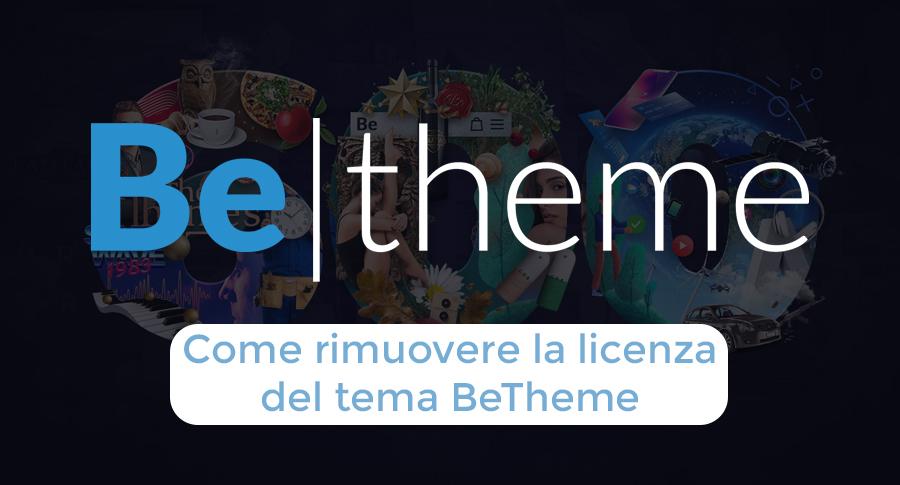 Come rimuovere la licenza del tema BeTheme