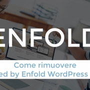 Come rimuovere powered by Enfold WordPress Theme