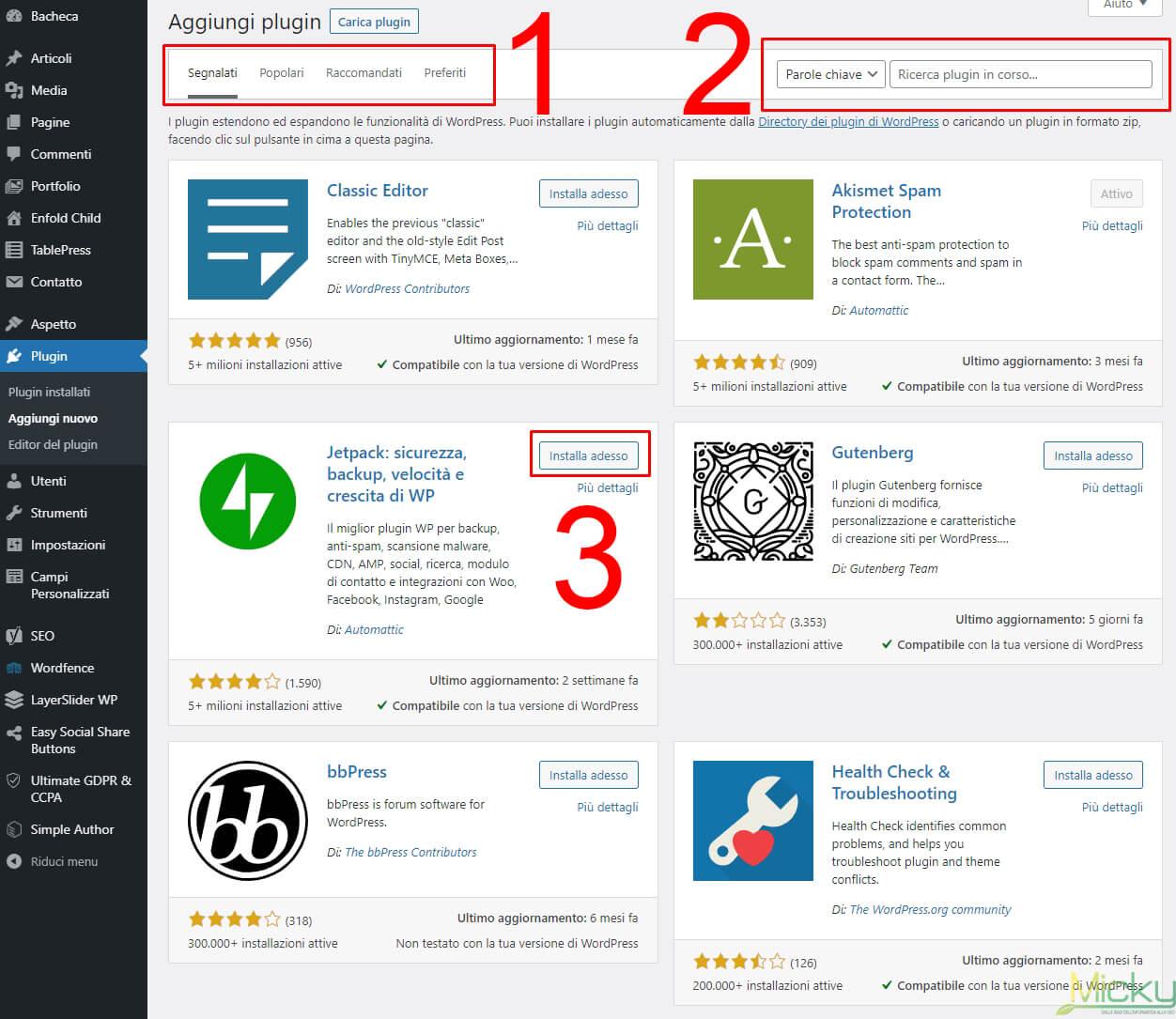 Scelta Plugin WordPress